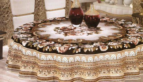 круглая скатерть на стол для кухни из гобелена