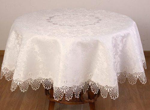 круглая скатерть на стол для кухни из клеёнки