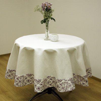 круглая скатерть на стол для кухни от NIKLEN