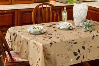 водоотталкивающая скатерть на стол для кухни