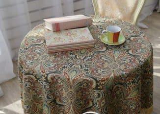 гобеленовые скатерти на круглый стол
