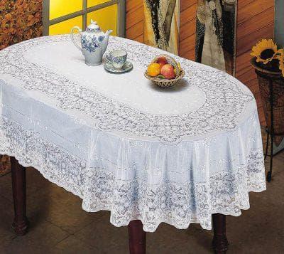 скатерть на овальный стол для кухни из клеёнки