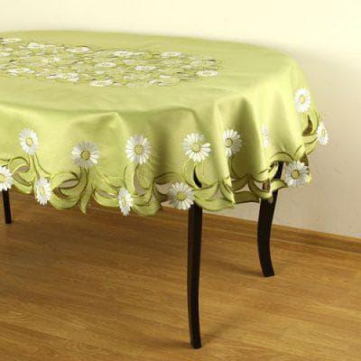 скатерть на овальный стол для кухни из полиэстера