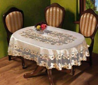 скатерти клеенчатые на овальный стол