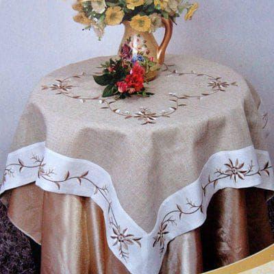 скатерть из льна на стол на каждый день