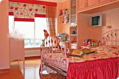 римские шторы в детскую комнату от Deko