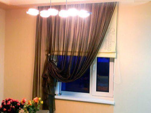 шторы на одну сторону для спальни в стиле хай тек