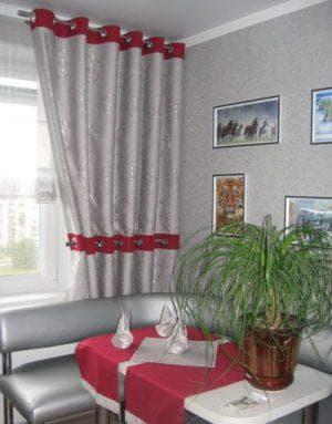 шторы на одну сторону для зала в стиле хай-тек