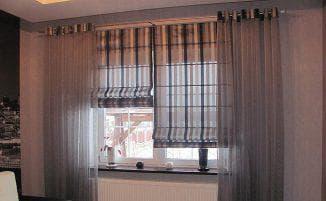 как выглядят римские шторы на пластиковые окна