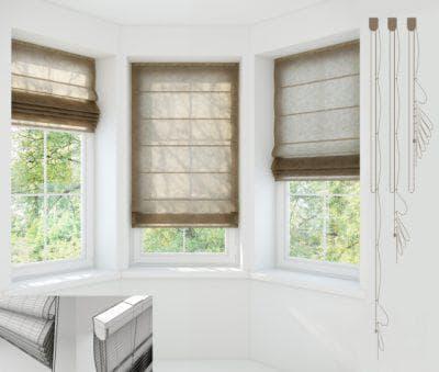 римские шторы на пластиковые окна Coulisse