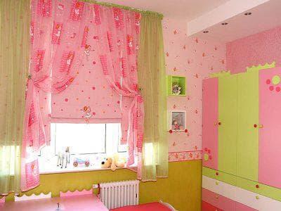 римские шторы в детскую комнату девочки