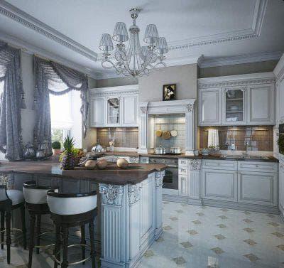 классические шторы на кухню на одну сторону