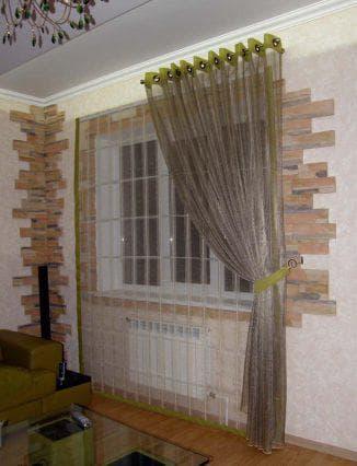 шторы на кухню на одну сторону разной расцветки