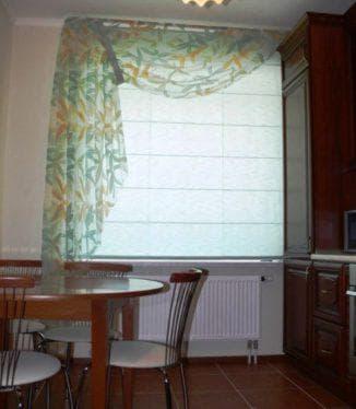 шторы с рисунком на кухню на одну сторону