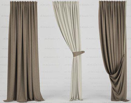 шторы на одну сторону в виде прямого полотна