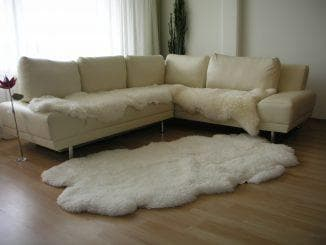 плед на угловой диван из натурального меха
