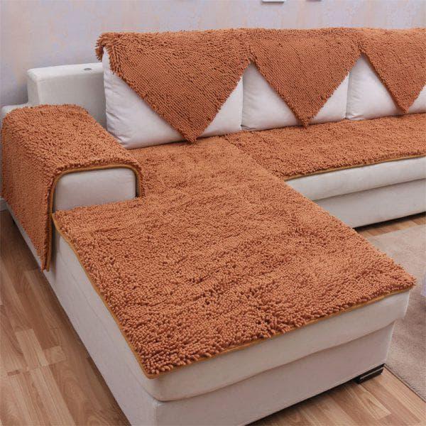 плед на угловой диван из овечьей шерсти