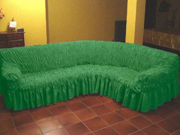 плед на угловой диван на резинке