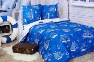 комплект постельного белья с простынью на резинке