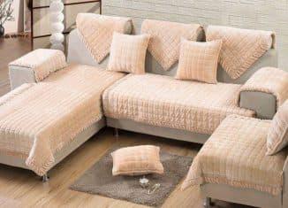 пледы на угловой диван фото