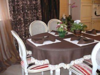 скатерть на овальный стол для кухни