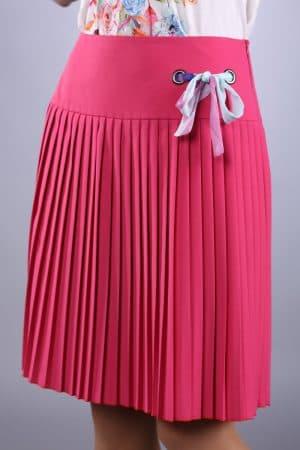 блуза из ткани плиссе