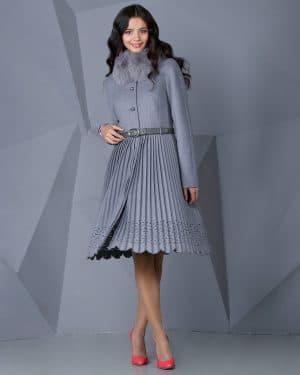 пальто из ткани плиссе